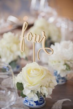 Do laser cut calligraphy table numbers ever NOT look elegant? So in love! {Vitalic Photo}