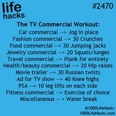 TV Commercial Workout                                                                                                                                                      More