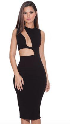 Clothing : Bodycon Dresses : 'Romana' Black Cut out BodyCon Dress Dresses For Less, Party Dresses For Women, Short Dresses, Gala Dresses 2016, Celebrity Outfits, Celebrity Style, Structured Dress, Black Bodycon Dress, Hot Dress