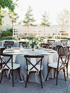 An Elegant Neutral Grey and Blue Ranch Wedding by Gaby J Photography | Wedding Sparrow
