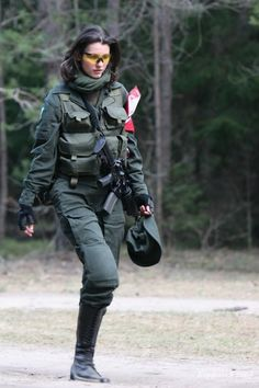 This is a girl that actually plays airsoft. No modeling going on here. This is for the women that actually play.