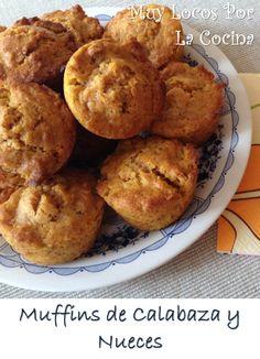Muffins de Calabaza y Nueces. Especiados con Canela, Jengibre y Vainilla