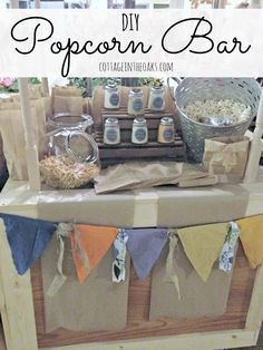 DIY Popcorn Bar Ideas that are easy to implement