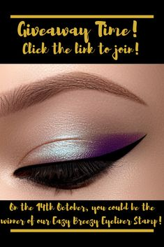 Welcome to the eyeliner hack of the century! We're giving away our amazing time-saving winged eyeliner stamp. You can do sexy cat eyes Eazy Breezy! To join the giveaway follow the link! Makeup Product Giveaway | Makeup Giveaway | Makeup Accessories Giveaway | Makeup Giveaway Ideas | Makeup Giveaway 2019 | Makeup Giveaway Products #makeupgiveaway #makeupproductgiveaway #makeup #giveaway Winged Eyeliner Stamp, Eye Liner Tricks, Time Saving, Cat Eyes, Best Makeup Products, Giveaways, Makeup Looks, Join, Make Up