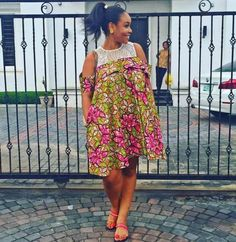Eye-Popping & Show-Stopping Ankara Styles You've Never Seen Before - Wedding Digest Naija Short African Dresses, Short Gowns, Latest African Fashion Dresses, African Print Dresses, African Print Fashion, African Prints, Ankara Fashion, Africa Fashion, Ankara Styles For Women