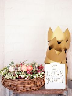 """Where the Wild Things Are"" baby shower // paper crowns"