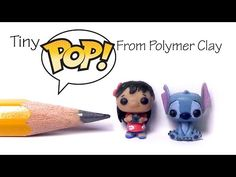 Cute Funko Pop / Pop Vinyl Inspired Polymer Clay Tutorial - Lilo & Stitch - YouTube