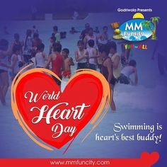 #WorldHeartDay  #Swimming is heart's best buddy! Come to #MMFunCity, celebrate with your heart and #stayhealthy forever!
