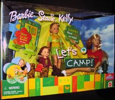Barbie, Stacie and Kelly Let& Camp Gift Set (Toys R Us Exclusive Speical Edti. Barbie And Her Sisters, Barbie Family, Barbie And Ken, Barbie 2000, Barbie Skipper, Mattel Barbie, Beautiful Barbie Dolls, Camping Gifts, New Dolls