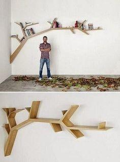 Repisas con forma de árbol para habitaciones