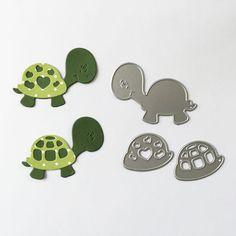 Stanzschablonenset Schildkröte www.papercrafts.ch