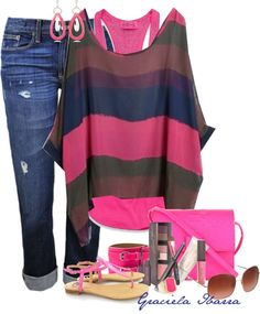 """""""Neon Accessories"""" by grachy ❤ liked on Polyvore"""
