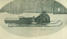 Early snowmobile (1920)