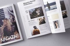 This is the back and open psd magazine mockup overhead view to showcase your print graphics in style. You can easily...