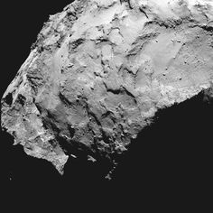 Ponto em cruz mostra onde robô deverá pousar no cometa 67P (Foto: ESA/AFP)