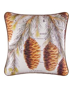 Another great find on #zulily! Pinecone Throw Pillow by C & F #zulilyfinds