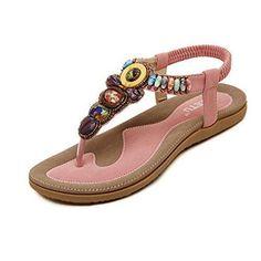 Oferta: 17.85€. Comprar Ofertas de Malloom Sandalias de vestir para mujer bohemio sandalias planas sandalias de espina de pescado (EU 38, rosa) barato. ¡Mira las ofertas!