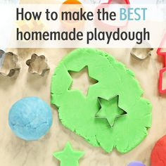 How to make the best easy homemade playdough recipe in just 5 minutes - hours of fun for toddlers, preschoolers, older kids too. You'll never go back to store-bought play doh - this recipe is cheap, l Diy Crafts For Kids Easy, Diy Crafts Hacks, Summer Crafts For Kids, Kids Crafts, Creative Activities For Toddlers, Arts And Crafts For Kids Toddlers, Simple Crafts, Kids Diy, Creative Kids
