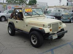 1987 Jeep Wrangler 4x4 Sport, going for about 5 grand, 6 Cyl., AT, Soft top with bikini
