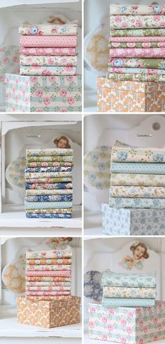 Spring Diaries and Pardon My Garden fabric and boxes