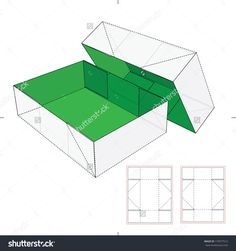 Shoes Cardboard Box With Die-Cut Pattern Stock Vector Illustration 179577512 : Shutterstock
