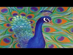 How to Paint a Peacock | Easy Free Acrylic Tutorial #PawgustArt #Painting - YouTube