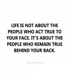 life is not about the people