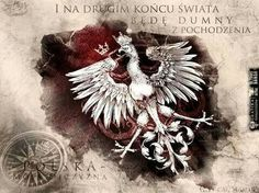 "Polska i Orzeł ."" and at the other end of the world - I will be proud of polish roots"" Historical Monuments, Polish Recipes, My Heritage, Coat Of Arms, Fiction, Lion Sculpture, Tumblr, Drawings, Homeland"
