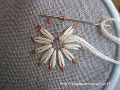 list of hand embroidery stitches Liste der Handstickstiche Embroidery Stitches Tutorial, Embroidery Patterns Free, Hand Embroidery Designs, Embroidery Techniques, Embroidery Needles, Embroidery Supplies, Hand Embroidery Projects, Applique Tutorial, Brother Embroidery
