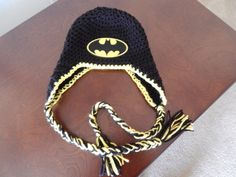 Batman Earflap Hat Made to Order by MustLoveHats on Etsy, $20.00