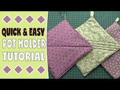 Quick & Easy Pot Holder Tutorial – Using Layer Cake Squares - A Pot Holder is a super quick sewing project. You can make them in many colors and sizes and they m - Easy Sewing Projects, Sewing Projects For Beginners, Craft Tutorials, Sewing Hacks, Sewing Tutorials, Sewing Crafts, Sewing Patterns, Sewing Tips, Sewing Ideas