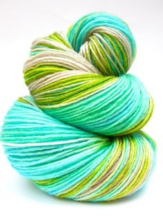 Hand Dyed Yarn  Superwash BFL and Bamboo Lustre by SunriseFiberCo, $25.00