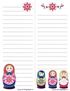 I found these templates at THIS  wonderful blog and thought I'd share. I love love love, matryoshka dolls. Matryoshka's are those adorabl...