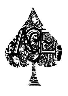Ace_of_Spades-Down_a_Rabbit_Hole via hannahruthkellett