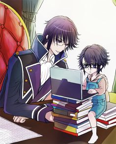Reisi and baby Saruhiko // K Project