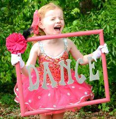 DIY Dance Photos from It Happens in a Blink Dance Camp, Dance Recital, Dance Teacher Gifts, Dance Crafts, Little Girl Dancing, Dance Poses, Tiny Dancer, Ballet Girls, Dance Pictures