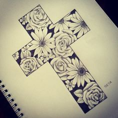 """A commissioned tattoo design....#art #artist #artwork #australianartist #byronbayartist #illustration #tattoo #tattoodesigns #followme #drawing #cross…"""