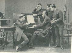 Художники и композиторы(фото с В.Серовым)