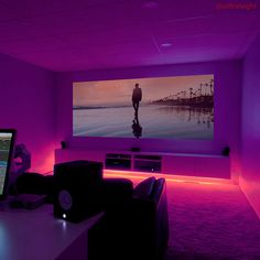 Shop LIFX Z LED Lightstrip Extension Kit Multicolor at Best Buy. Find low everyday prices and buy online for delivery or in-store pick-up. At Home Movie Theater, Home Theater Rooms, Home Theater Room Design, Gaming Room Setup, Gaming Rooms, Led Stripes, Game Room Design, H & M Home, Aesthetic Room Decor