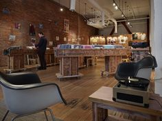 Olson Kundig Architects - Projects - Record Store at [storefront] Olson Kundig Architects