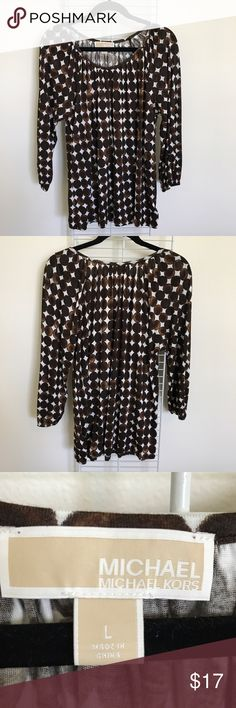Michael Kors Printed Blouse Michael Kors Printed Blouse   Great condition, hardly worn   Size L Michael Kors Tops Blouses
