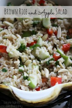 Brown Rice and Apple Salad Recipe {Gluten Free Thanksgiving Side Dish}