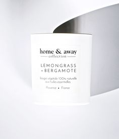 BOUGIE 100% NATURELLE aux huiles essentielles: LEMONGRASS + BERGAMOTE | home & away collection Essential Oils, Cards Against Humanity, Candles, Natural, Collection, Bergamot Orange, Candy, Candle, Pillar Candles