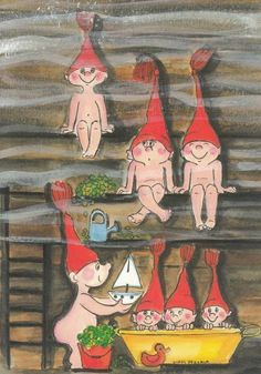 Virpi Pekkala Christmas And New Year, All Things Christmas, Christmas Crafts, Baumgarten, Advent Calenders, Cute Characters, Whimsical Art, Cute Illustration, Illustrations