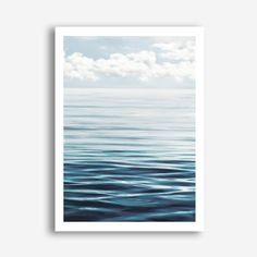 Featuring a serene scene of the ocean and distant horizon, this art print was originally hand painted by our in-house artist team, and now available as a reproduction giclée art print (archival using pigment inks), unframed or framed. Size & frame colour options available. We ship worldwide. #ThePrintEmporium #waves #beachvibes #ocean #beachart #artprint #summer #print #horizon www.theprintemporium.com.au