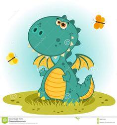 Illustration about Cartoon fat fire dragon icon set,vector,illustration. Illustration of adorable, cute, child - 23686294 Dinosaur Images, Dinosaur Art, Dinosaur Pics, Dragon Images, Dragon Pictures, Dragon Illustration, Cute Illustration, Fire Dragon, Dragon Art