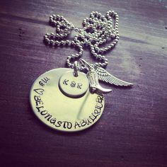 Hand Stamped Aluminum Necklace with My by PrettyLittleThingsKB, $24.00