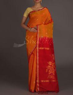 Shyama Thin Lace Border Full Bloom Pallu Real Zari #UppadaSilkSaree