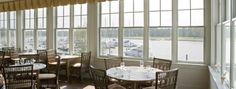 dining area sun room | The sunroom in the River Dunes Harbor Club dining area overlooks Grace ...