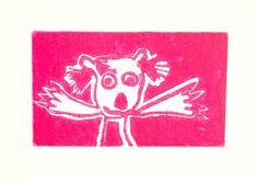 Pink Koala by EluGallery on Etsy
